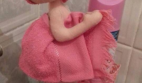 Boneca de Banheiro com moldes