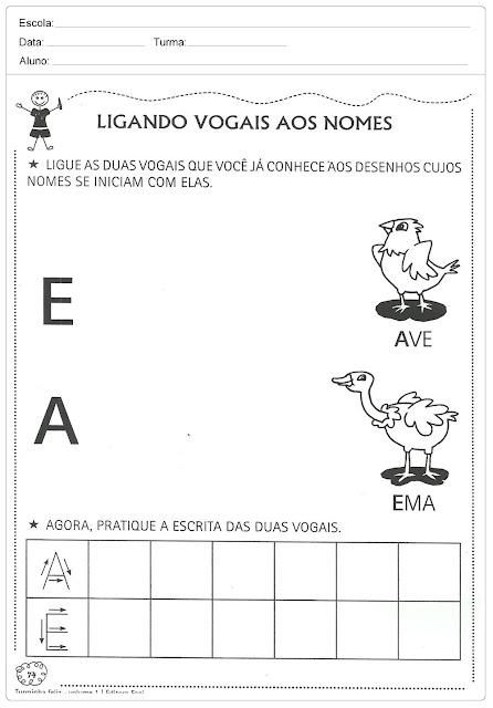 Atividades com Vogais para Imprimir
