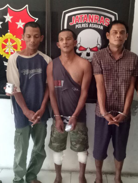 Tiga tersangka specialis pembobol rumah di Asahan. Salah satunya ditembak polisi.