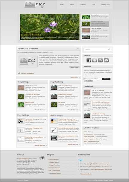 The Mez V2 Blogger Template