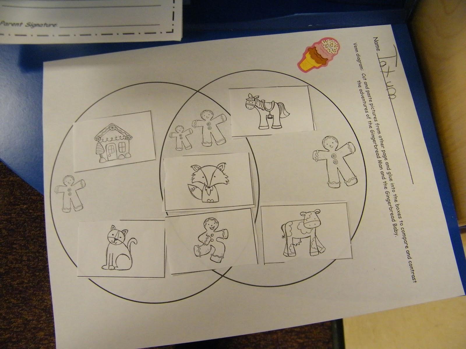 Gingerbread Venn Diagram Deutz Emr2 Wiring Inspired By Kindergarten Unit