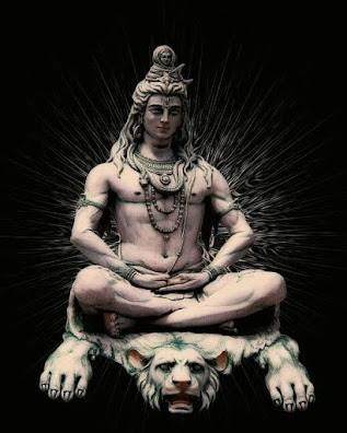 Black Ground with Shiva Images