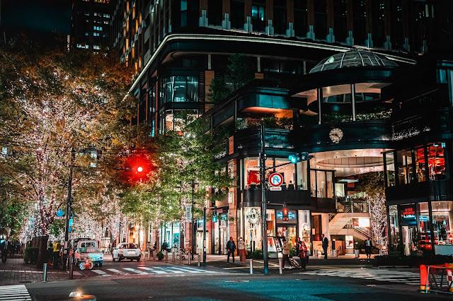 イルミネーション,夜景,丸の内,東京駅