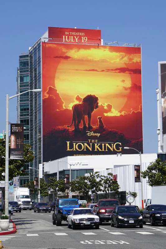 Giant Disney Lion King movie billboard