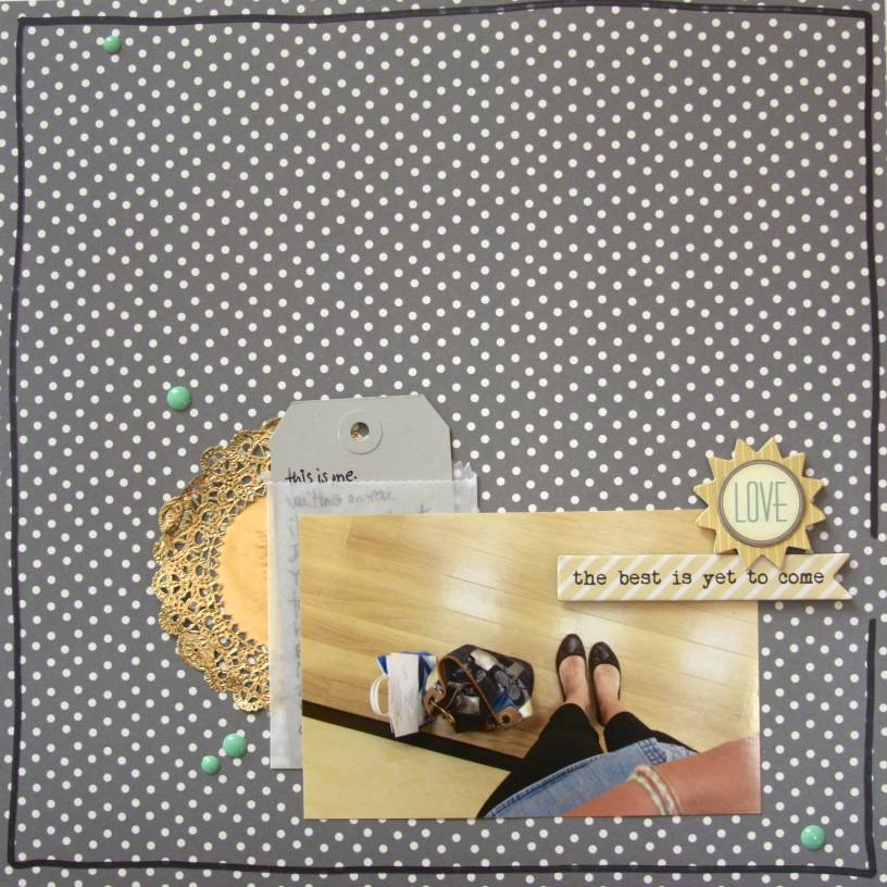 #scrapbooking #layout #enamel dots