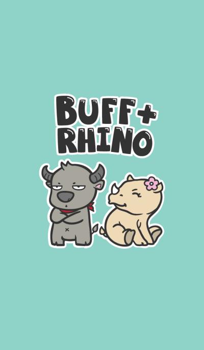 Male Buffalo & Female Rhinoceros