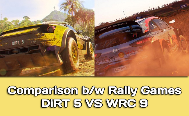 Comparison: DiRT 5 vs WRC 9 in graphics, gameplay, camera