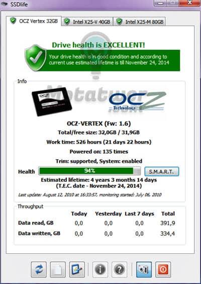 معرفة نسبة صحة الهارد SSD وسرعته
