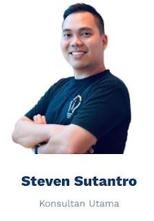 Steven Sutantro adalah Pelatih Bersertifikasi Google for Education, Inovator, Pakar Pendidik Google Earth, dengan pengalaman luas dalam mengubah pembelajaran dan bekerja untuk para pemimpin, pendidik, dan profesional dengan mengoptimalkan penggunaan teknologi digital. Dengan pengalaman 7 tahun sebagai pendidik dan pemimpin komunitas, ia telah membantu lebih dari 100 sekolah dan universitas, dan membimbing lebih dari 500 pemimpin dan pendidik untuk mendapatkan sertifikasi pendidik Google. Steven adalah peraih banyak penghargaan dan sertifikasi internasional seperti dari Kedutaan Besar AS, TED Ed Innovative Educator, Apple Teacher, National Geographic Certified Educator, & Google Earth Education yang relevan dengan desain pembelajaran abad ke-21. Sebagai penggagas Google Educator Group di Indonesia, Steven berkolaborasi dengan banyak pelatih dan inovator internasional dari Asia Pasifik dan global untuk memfasilitasi perubahan melalui adopsi teknologi dalam pendidikan.