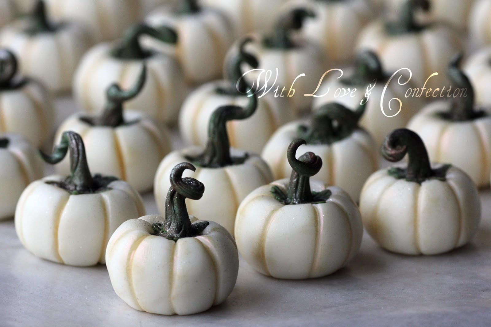 With Love Amp Confection White Chocolate Pumpkins Tutorial