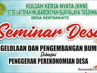 Download Contoh Spanduk Seminar Desa KKN.cdr
