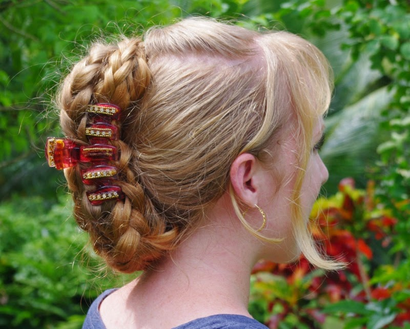 Braids & Hairstyles for Super Long Hair: Banana-clip style ...