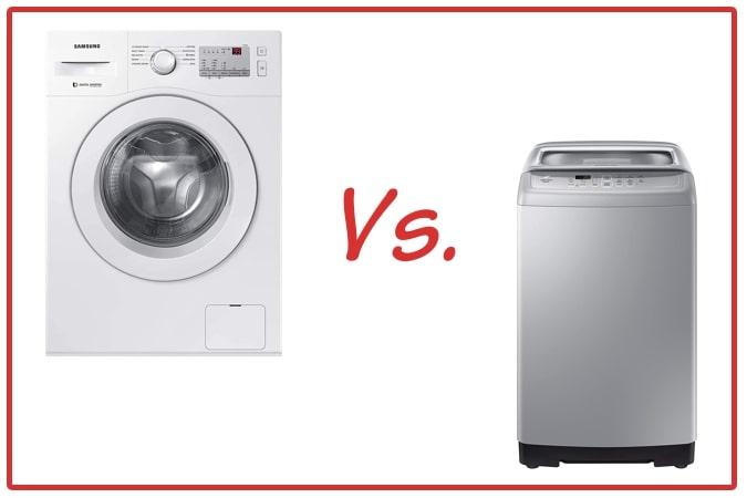Samsung WW60R20GLMA/TL (left) and Samsung WA70A4002GS/TL (right) Washing Machine Comparison.
