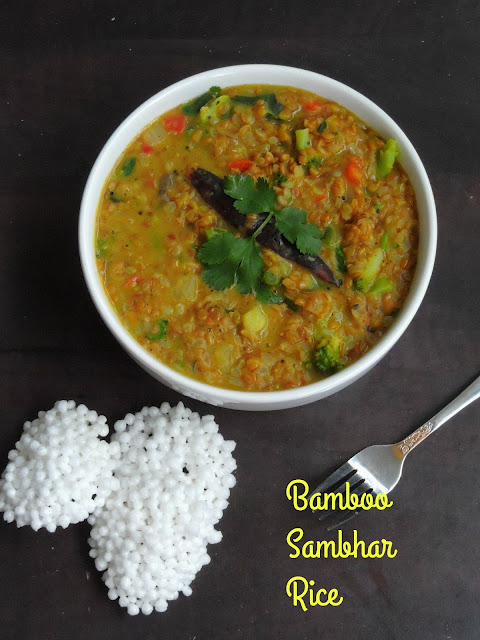 Bamboo Sambhar Rice