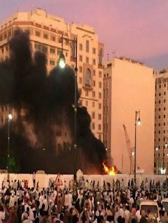 تفجير ارهابي قرب المسجد النبوي واستشهاد اربعة من رجال الامن السعوديين