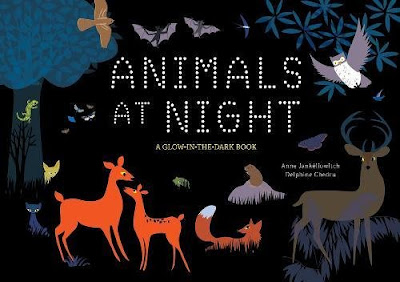 Animals at Night A Glow-in-the-Dark Book - It's chock full of interesting nocturnal animal facts and paired with engaging illustrations that will only be enhanced by the special glow-in-the-dark feature that is tied to scavenger hunt-like questions. Kids will love it!