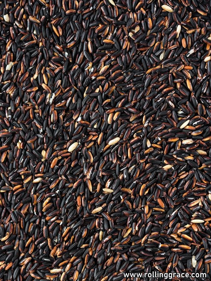 black glutinous rice recipe savoury