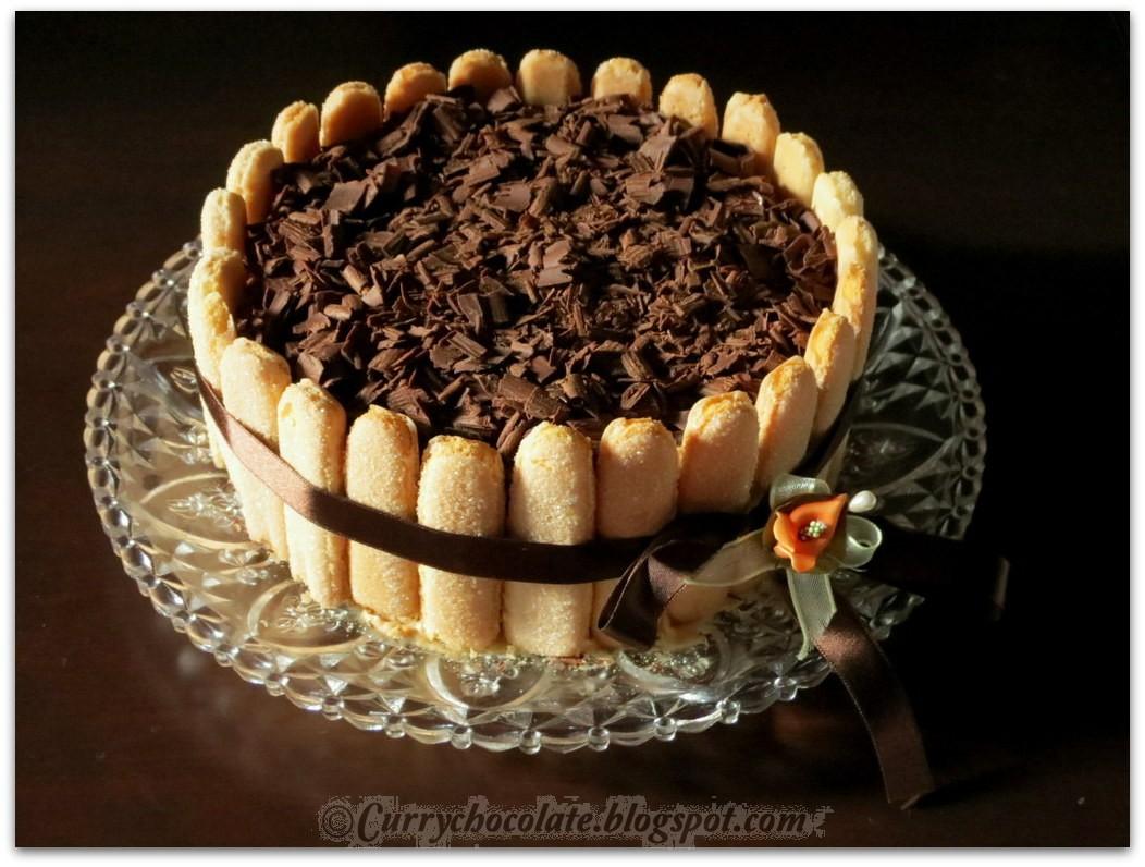 Tarta de tiramisú - Tiramisu cake