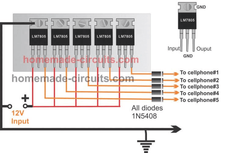 6 Useful Dc Cellphone Chargers Explained Full Circuit Diagram