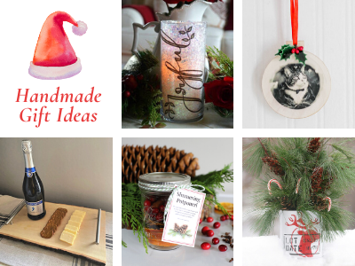 handmade Christmas gift idea collage photo