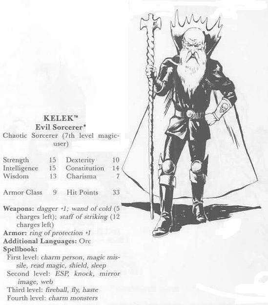 Kelek the Cruel from Quest of the Heartstone