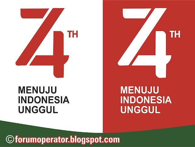 Download Logo HUT RI 74 Vector