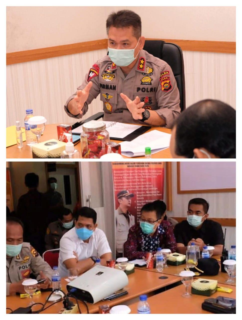 Ini Arahan Kapolda Jambi Saat Pimpin Rapat Anev Gugus Tugas Penanganan Covid-19 Provinsi Jambi