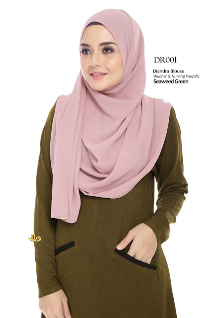 blouse diandra plus size nursing blouse wuduk freindly
