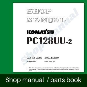 Komatsu pc128uu-2 excavator mini