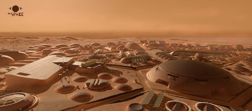 Mars colony for 1000 people by Innspace team for Mars Colony Prize contest - city center