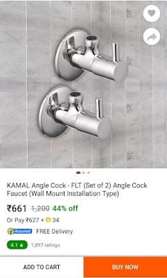 Angle cock 2 nos. good quality online