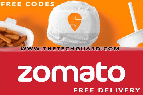 Free coupon and cashback on Zomato