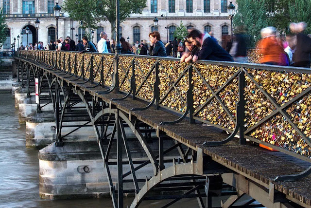 Pont des Arts or padlock bridges of love