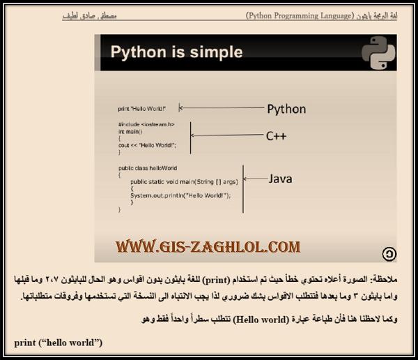 تحميل سلسلة تعلم برمجة بايثون بالعربي Pdf الجزء الأول