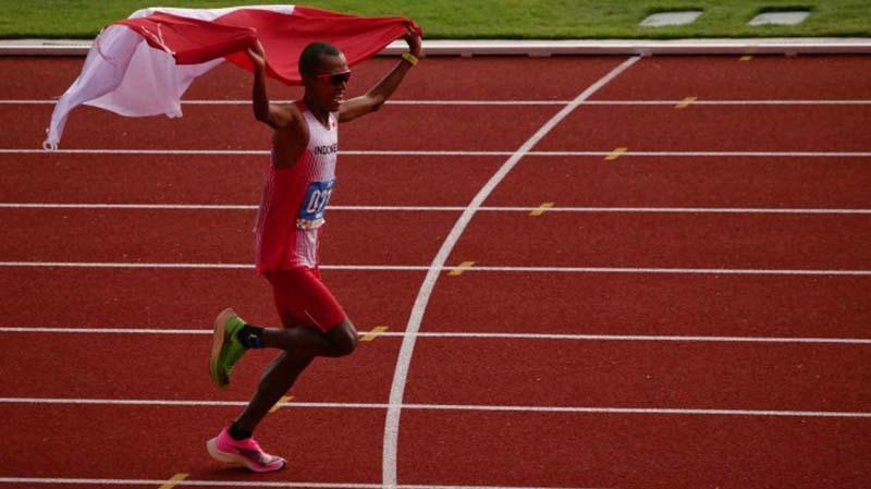 Pelari Marathon Indonesia Agus Prayogo Raih Medali Emas SEA Games