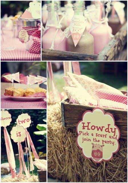 Pink Farmyard 2nd Birthday Party