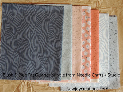 blush and blue fat quarter bundle needle crafts and studio