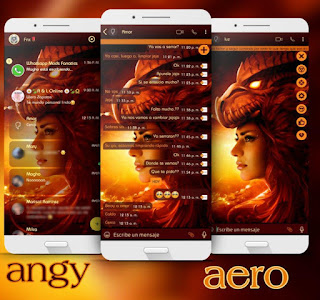 Dragon & Girls Theme For YOWhatsApp & Fouad WhatsApp By Angyfinix