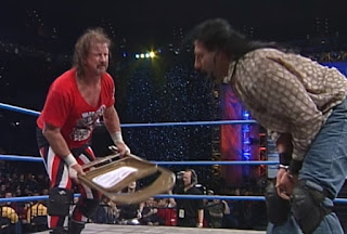 WCW Starrcade 2000 - Terry Funk challenged Crowbar for the Hardcore title