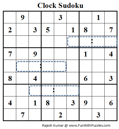 Clock Sudoku (Daily Sudoku League #75)