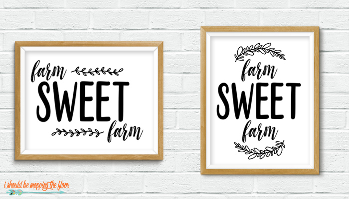 Farm Sweet Farm Printable