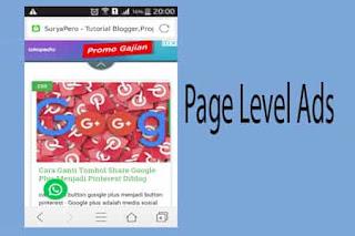 Cara Pasang Iklan Page Level Google Adsense Khusus Smartphone