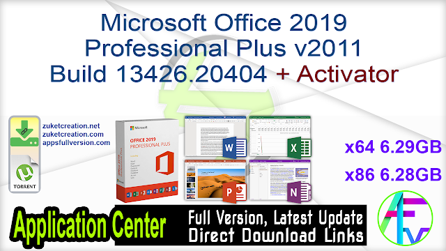 Microsoft Office 2019 Professional Plus v2011 Build 13426.20404 + Activator