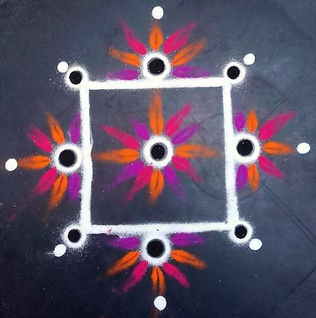 easy colourful simple rangoli designs