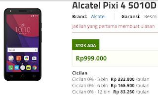 Harga Alcatel Pixi 4 5010D Android Murah 5 inch