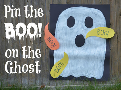 DIY Halloween Pin the Boo Game For Kids