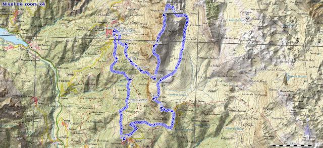 mapa ruta Bermiego Pelitrón