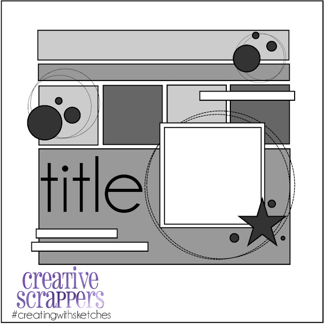 Creative Scrappers February Sketch Challenge