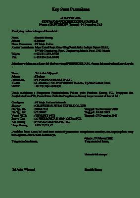 Format Surat Kuasa Kepabeanan Impor