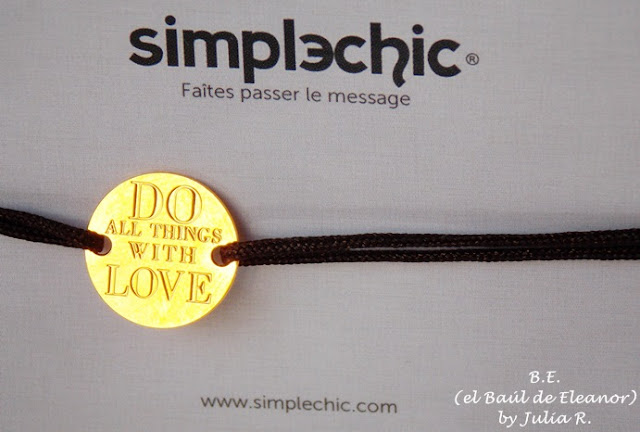 Pulsera Simplechic Do all things with Love